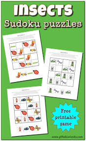 halloween puzzles printables insects sudoku puzzles free printables gift of curiosity