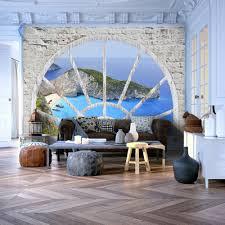 Fototapete Wohnzimmer Modern Vlies Fototapete 3 Farben Zur Auswahl Tapeten Fenster Ausblick
