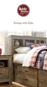 Bedroom Furniture Bookcase Headboard by South Shore Spark Twin Mates Bed With Drawers And Bookcase