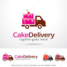 cake delivery cake delivery logo template design vector stock vector