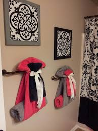 bathroom towel rack decorating ideas best 25 bathroom towel display ideas on bath towel