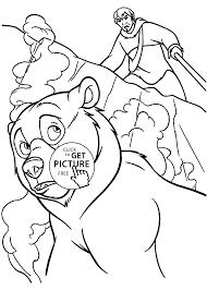 kenai brother bear coloring pages kids printable free