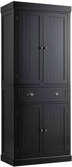 black kitchen pantry cupboard tangkula 72 h freestanding kitchen pantry cupboard cabinet traditional design w adjustable shelves 2 door floor utility storage cabinet