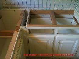 meuble cuisine a poser sur plan de travail meuble four encastrable quel pour poser plan de travail cuisine
