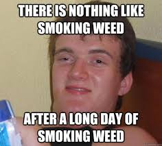 Anti Smoking Meme - there is nothing like smoking weed after a long day of smoking