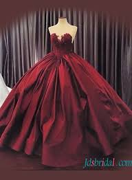 wedding dress maroon sweetheart neck burgundy colored gown wedding dress with