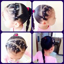 Simple Girls Hairstyles by Little Girls Hair Style My Creation Miris Things Pinterest