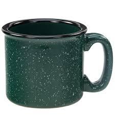 santa fe campfire mug forest green ceramic mug quality coffee