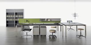 Modern Workstation Desk by Workstation Desk Aluminum Contemporary Commercial Point By