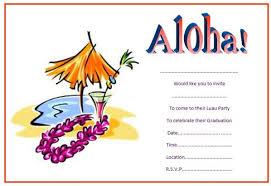 party invitations luau party invitations
