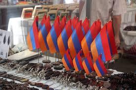 Orange Flag Meaning Vernissage In Yerevan