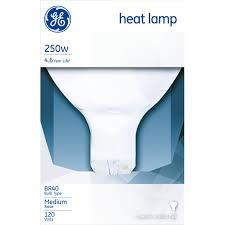 g e 250 watts warmup infrared heat lamp specialty light bulbs