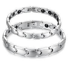 power health bracelet images Titanium magnetic therapy negative ion germanium link couple jpg