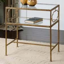 gold and glass table gold end table conception genell 17 tupimo com