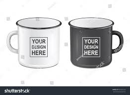 vector realistic enamel metal white black stock vector 637510153