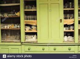 bright green english country house victorian kitchen cupboards