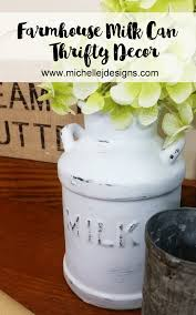 how to transform milk cans for the popular farmhouse look thrift store ceramic milk cans www michellejdesigns com i turned these ceramic