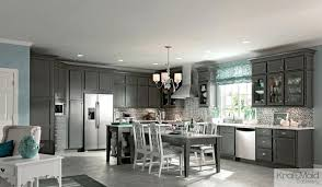 Gray Stained Kitchen Cabinets Grey Stained Kitchen Cabinets Gray Maple Recessed Door In