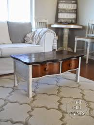 lake paints old dresser turns coffee table