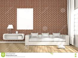 3d rendering illustration of cozy living room interior with