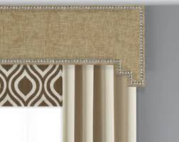 Fabric Covered Wood Valance Cornice Board Etsy