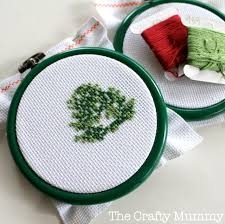 cross stitch ornaments and sew we craft