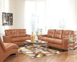 Futura Leather Sofa by Decoro Leather Sofa Benchcraft Paulie Durablendar Orange