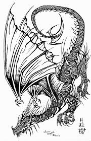 swooping black ink dragon by dragonphysic on deviantart