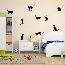 diy cats vinyl wall stickers home mural decals for living room diy cats vinyl wall stickers home mural decals for living room kids room decor cheap wall art stickers cheap wall clings from flylife 4 53 dhgate com
