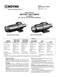service manual moyno 500 pumps