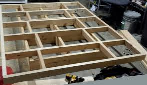 top and bottom bed frames stacked on top of each other to show