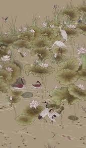 hand painted wallpaper silk wallpaper china wallpaper grace