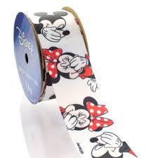mickey ribbon 1 5 disney mickey and minnie mouse satin ribbon