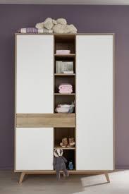 armoire chambre bébé armoire enfant contemporaine chêne blanc perrine armoire