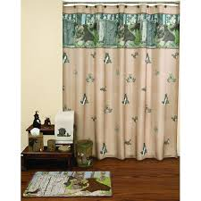 Outhouse Shower Curtain Hooks Woodland Critters Gotta Go Shower Curtain And Bath Accessories