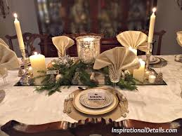 gold and silver christmas theme dinner fete inspirational details