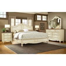 Country White Bedroom Furniture by Chateau French Country Sleigh Bedroom Set Dcg Stores