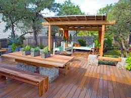 outdoor backyard deck designs with tub ideas double deck