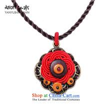 girl necklace size images Gangnam gu rainy red retro ethnic chinese knots necklace stylish jpg
