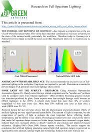 natural full spectrum lighting go green research on full spectrum lighting go green solutions