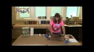 how to use gel stain applying as paint general finishes youtube