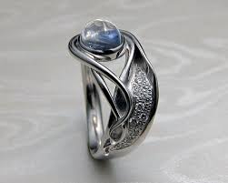 moonstone engagement rings contemporary nouveau style engagement ring with blue