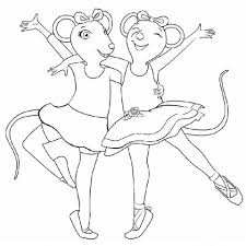 20 free printable angelina ballerina coloring pages