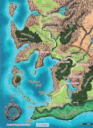 Pathfinder World Map by Caravan Route Pathfinder Game Journals