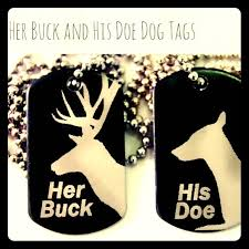 his and hers dog tags browning buck his doe dog tag necklace from s closet