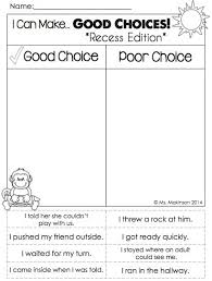 choices and consequences worksheet free worksheets library