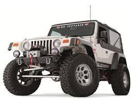 jeep front grill guard jeep tj lj rock crawler stubby front bumper w o grill guard
