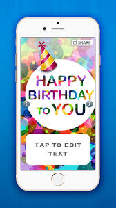 birthday greeting card designer make e cards and wish