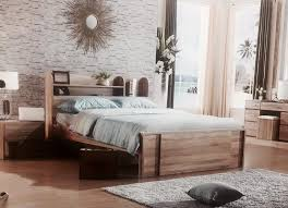 king single bed with side bookcase converts to queen size new in