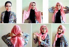 tutorial memakai jilbab paris yang simple omahndalemjengwening hijab tutorial paris drapery square hijab